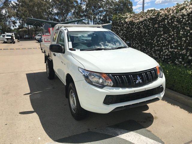 Used Mitsubishi Triton MQ MY17 GLX 4x2 Acacia Ridge, 2017 Mitsubishi Triton MQ MY17 GLX 4x2 White 5 speed Automatic Cab Chassis
