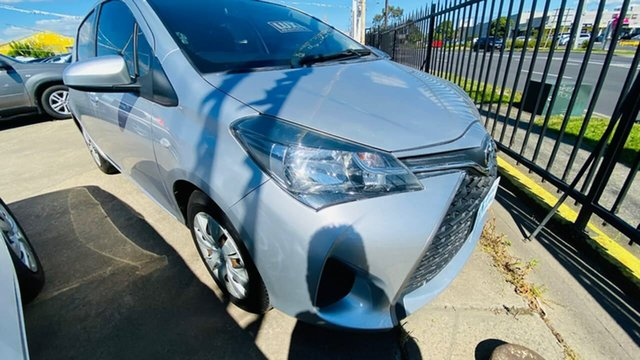 Used Toyota Yaris NCP130R Ascent Maidstone, 2015 Toyota Yaris NCP130R Ascent Silver 4 Speed Automatic Hatchback