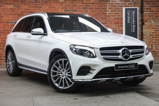 2015 Mercedes-Benz GLC-Class X253 GLC250 9G-Tronic 4MATIC Polar White 9 Speed Sports Automatic Wagon.