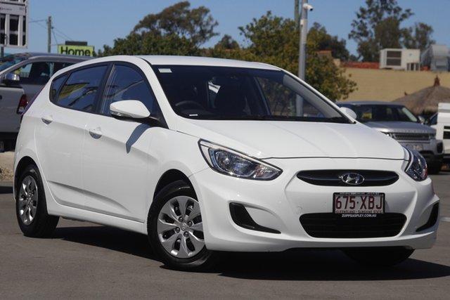 Used Hyundai Accent RB3 MY16 Active Aspley, 2016 Hyundai Accent RB3 MY16 Active White 6 Speed Constant Variable Hatchback