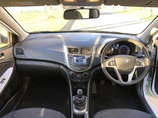 2016 Hyundai Accent RB3 MY16 Active Crystal White 6 Speed Manual Sedan