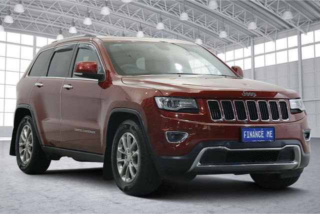 Used Jeep Grand Cherokee WK MY2014 Limited Victoria Park, 2014 Jeep Grand Cherokee WK MY2014 Limited Deep Cherry Red 8 Speed Sports Automatic Wagon