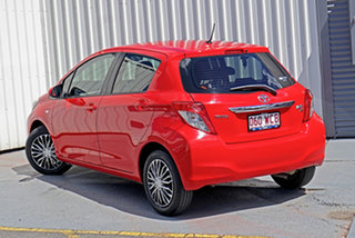 2012 Toyota Yaris NCP131R YRS Red 4 Speed Automatic Hatchback.
