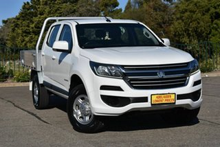 2017 Holden Colorado RG MY18 LS Crew Cab 4x2 White 6 Speed Sports Automatic Cab Chassis.