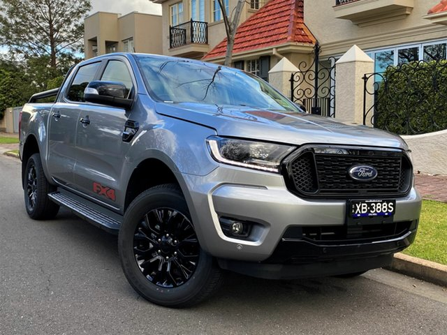 Demo Ford Ranger PX MkIII 2021.75MY FX4 Hyde Park, 2021 Ford Ranger PX MkIII 2021.75MY FX4 Aluminium Silver 6 Speed Sports Automatic Double Cab Pick Up