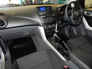 2012 Mazda BT-50 XTR (4x4) Silver 6 Speed Manual Freestyle Utility.
