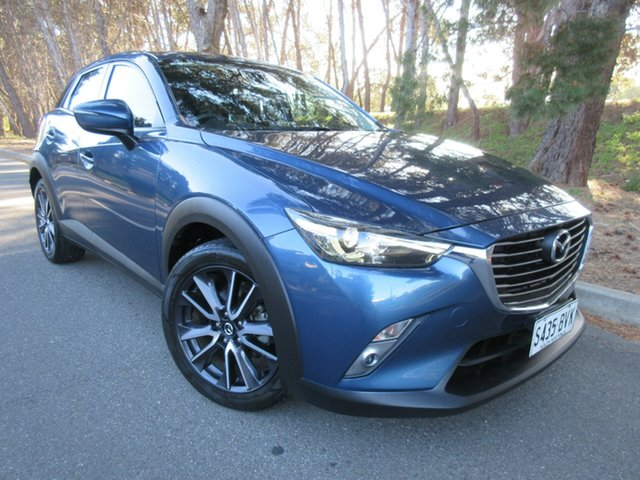 Used Mazda CX-3 DK2W7A sTouring SKYACTIV-Drive Reynella, 2017 Mazda CX-3 DK2W7A sTouring SKYACTIV-Drive Blue 6 Speed Sports Automatic Wagon