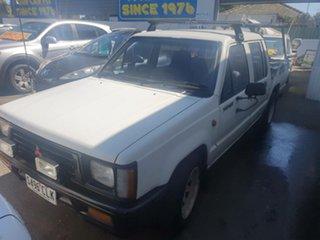 1994 Mitsubishi Triton MJ Double Cab 4x2 White 5 Speed Manual Utility.