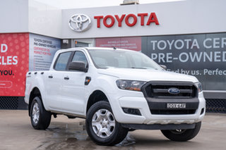 2017 Ford Ranger PX MkII MY18 XL 2.2 Hi-Rider (4x2) White 6 Speed Automatic Crew Cab Pickup.