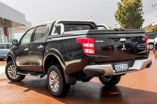 2015 Mitsubishi Triton MQ MY16 GLS Double Cab Black/Grey 5 Speed Sports Automatic Utility.
