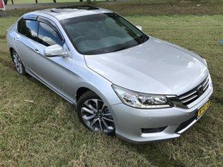 2014 Honda Accord 60 V6-L Silver 6 Speed Automatic Sedan.