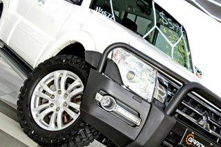2018 Mitsubishi Pajero NX MY19 GLX LWB (4x4) 7 Seat White 5 Speed Auto Sports Mode Wagon.