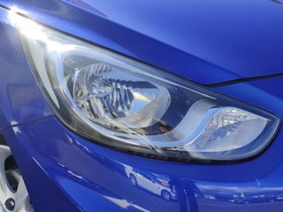 2012 Hyundai Accent RB Active Blue 4 Speed Sports Automatic Hatchback.