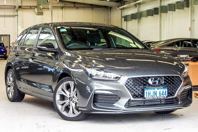Demo Hyundai i30 PD.V4 MY21 N Line Osborne Park, 2021 Hyundai i30 PD.V4 MY21 N Line Iron Grey 6 Speed Manual Hatchback