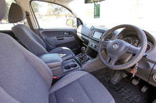 2011 Volkswagen Amarok 2H MY12 TDI400 4Mot Trendline Silver 6 Speed Manual Utility