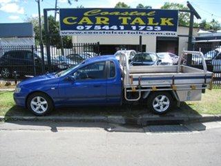 2002 Ford Falcon BA XLS Blue 4 Speed Auto Seq Sportshift Cab Chassis.