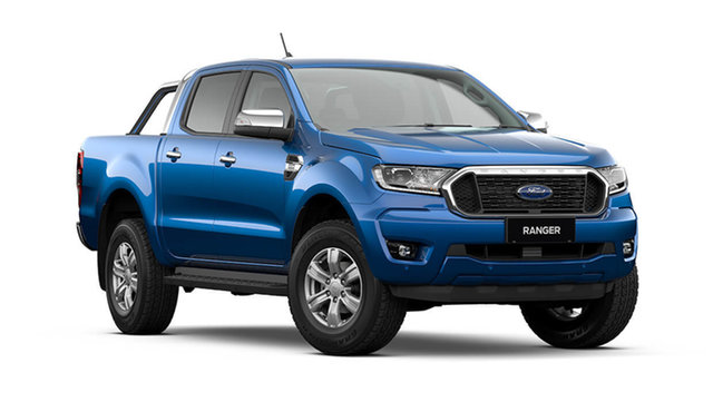 New Ford Ranger XLT Double Cab Hamilton, 2021 Ford Ranger PX MkIII XLT Double Cab Blue Lightning 6 Speed Automatic Pick Up