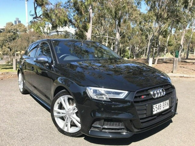 Used Audi S3 8V MY17 Sportback S Tronic Quattro Adelaide, 2016 Audi S3 8V MY17 Sportback S Tronic Quattro Black 7 Speed Sports Automatic Dual Clutch Hatchback