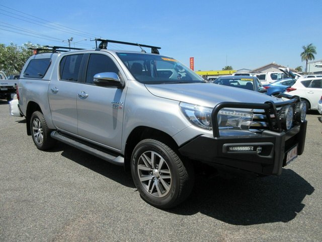 Used Toyota Hilux GUN126R SR5 Double Cab Winnellie, 2018 Toyota Hilux GUN126R SR5 Double Cab Silver 6 Speed Sports Automatic Utility