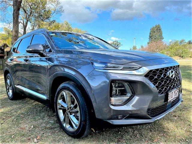 Used Hyundai Santa Fe TM MY19 Highlander Mount Gravatt, 2018 Hyundai Santa Fe TM MY19 Highlander Grey 8 Speed Sports Automatic Wagon