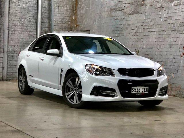 Used Holden Commodore VF MY15 SV6 Storm Mile End South, 2015 Holden Commodore VF MY15 SV6 Storm White 6 Speed Sports Automatic Sedan