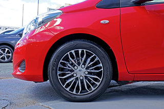 2012 Toyota Yaris NCP131R YRS Red 4 Speed Automatic Hatchback