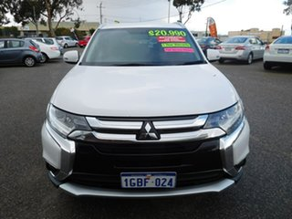 2016 Mitsubishi Outlander ZK MY16 XLS 4WD White 6 Speed Constant Variable Wagon.