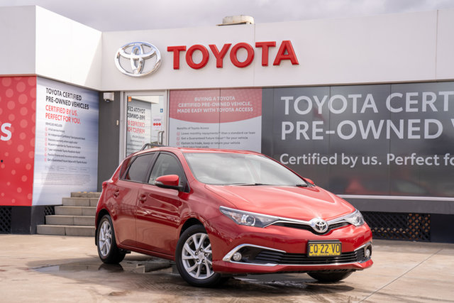 Pre-Owned Toyota Corolla ZRE182R Ascent Sport S-CVT Guildford, 2018 Toyota Corolla ZRE182R Ascent Sport S-CVT Wildfire 7 Speed Constant Variable Hatchback