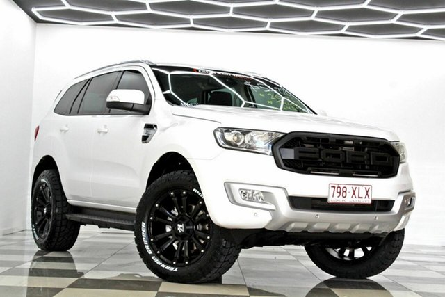 Used Ford Everest UA MY18 Trend (4WD) Burleigh Heads, 2017 Ford Everest UA MY18 Trend (4WD) White 6 Speed Automatic SUV