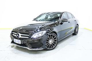 2016 Mercedes-Benz C-Class W205 807MY C200 7G-Tronic + Black 7 Speed Sports Automatic Sedan.