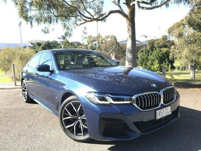 Used BMW 5 Series G30 LCI 530d Steptronic M Sport Adelaide, 2020 BMW 5 Series G30 LCI 530d Steptronic M Sport Blue 8 Speed Sports Automatic Sedan