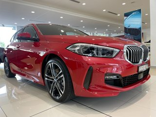 2020 BMW 1 Series F40 118i DCT Steptronic M Sport Melbourne Red 7 Speed Sports Automatic Dual Clutch.