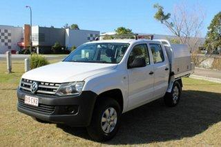 2012 Volkswagen Amarok 2H MY12 TDI400 4x2 White 6 Speed Manual Cab Chassis.