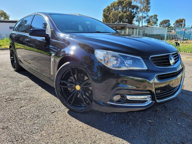Used Holden Commodore VF MY14 SS Sportwagon Storm Elizabeth, 2014 Holden Commodore VF MY14 SS Sportwagon Storm Black 6 Speed Sports Automatic Wagon