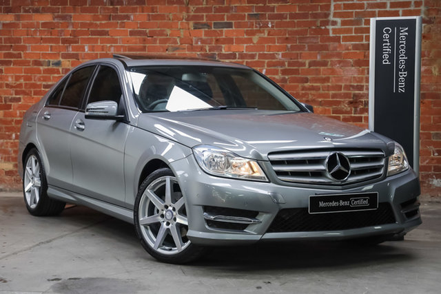 Certified Pre-Owned Mercedes-Benz C-Class W204 MY14 C200 7G-Tronic + Elegance Mulgrave, 2014 Mercedes-Benz C-Class W204 MY14 C200 7G-Tronic + Elegance Pladdium Silver 7 Speed