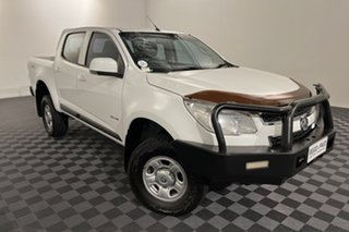 2014 Holden Colorado RG MY14 LX Crew Cab White 6 speed Automatic Cab Chassis.