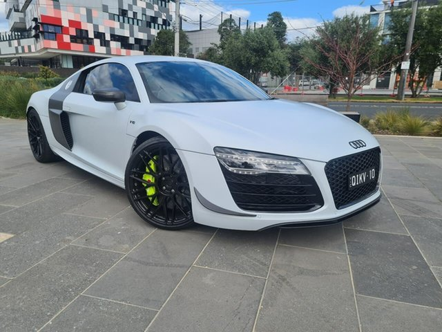 Used Audi R8 MY14 Plus S Tronic Quattro South Melbourne, 2014 Audi R8 MY14 Plus S Tronic Quattro White 7 Speed Sports Automatic Dual Clutch Coupe