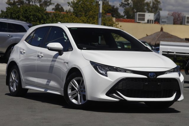 Used Toyota Corolla ZWE211R Ascent Sport E-CVT Hybrid Aspley, 2019 Toyota Corolla ZWE211R Ascent Sport E-CVT Hybrid White 10 Speed Constant Variable Hatchback