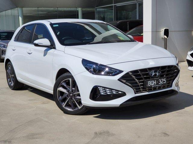 Demo Hyundai i30 PD.V4 MY21 Active Oakleigh, 2021 Hyundai i30 PD.V4 MY21 Active White 6 Speed Sports Automatic Hatchback