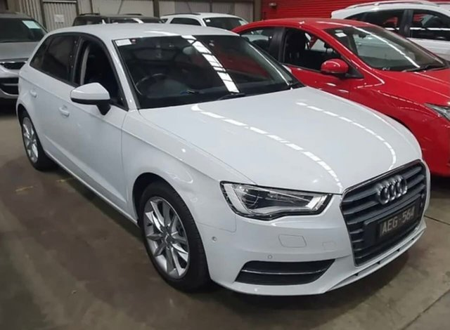 Used Audi A3 8V MY16 Attraction Sportback S Tronic South Melbourne, 2015 Audi A3 8V MY16 Attraction Sportback S Tronic White 7 Speed Sports Automatic Dual Clutch