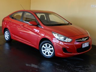 2014 Hyundai Accent RB2 Active Red 4 Speed Automatic Sedan