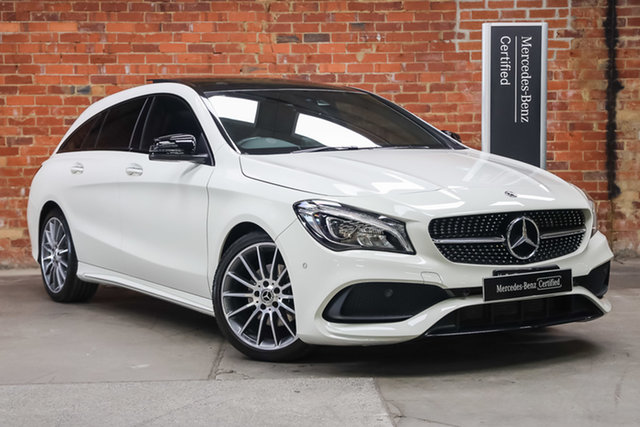 Certified Pre-Owned Mercedes-Benz CLA-Class X117 808MY CLA200 Shooting Brake DCT Mulgrave, 2017 Mercedes-Benz CLA-Class X117 808MY CLA200 Shooting Brake DCT Calcite White 7 Speed