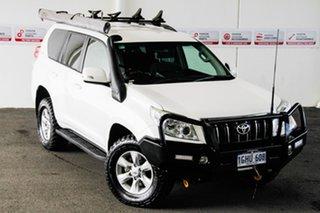 2011 Toyota Landcruiser Prado KDJ150R GXL (4x4) Glacier White 6 Speed Manual Wagon.