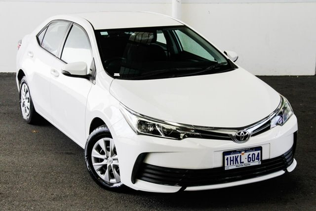 Pre-Owned Toyota Corolla ZRE172R MY17 Ascent Myaree, 2017 Toyota Corolla ZRE172R MY17 Ascent Glacier White 7 Speed CVT Auto Sequential Sedan