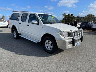 2006 Nissan Navara D40 ST-X (4x4) White 5 Speed Automatic Dual Cab Pick-up.