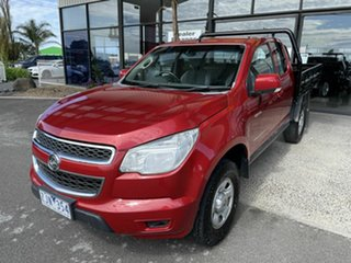 2012 Holden Colorado RC MY11 LX (4x4) Red 5 Speed Manual Space Cab Chassis