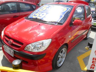 2008 Hyundai Getz TB MY07 SX Red 5 Speed Manual Hatchback.