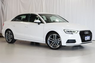 2019 Audi A3 8V MY19 35 TFSI S Tronic White 7 Speed Sports Automatic Dual Clutch Sedan.