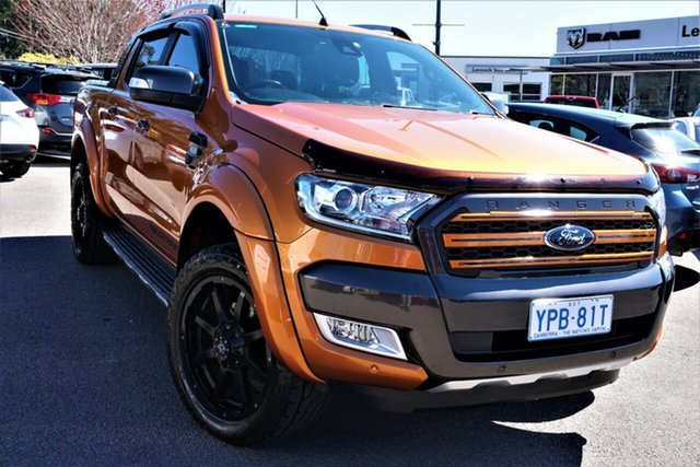 Used Ford Ranger PX MkII Wildtrak Double Cab Phillip, 2017 Ford Ranger PX MkII Wildtrak Double Cab Orange 6 Speed Sports Automatic Utility