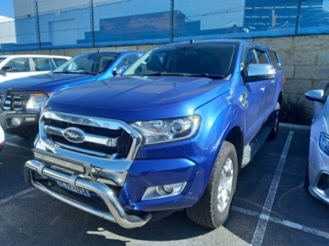 Pre-Owned Ford Ranger PX MkII XLT 3.2 (4x4) Myaree, 2015 Ford Ranger PX MkII XLT 3.2 (4x4) Blue 6 Speed Automatic Double Cab Pick Up